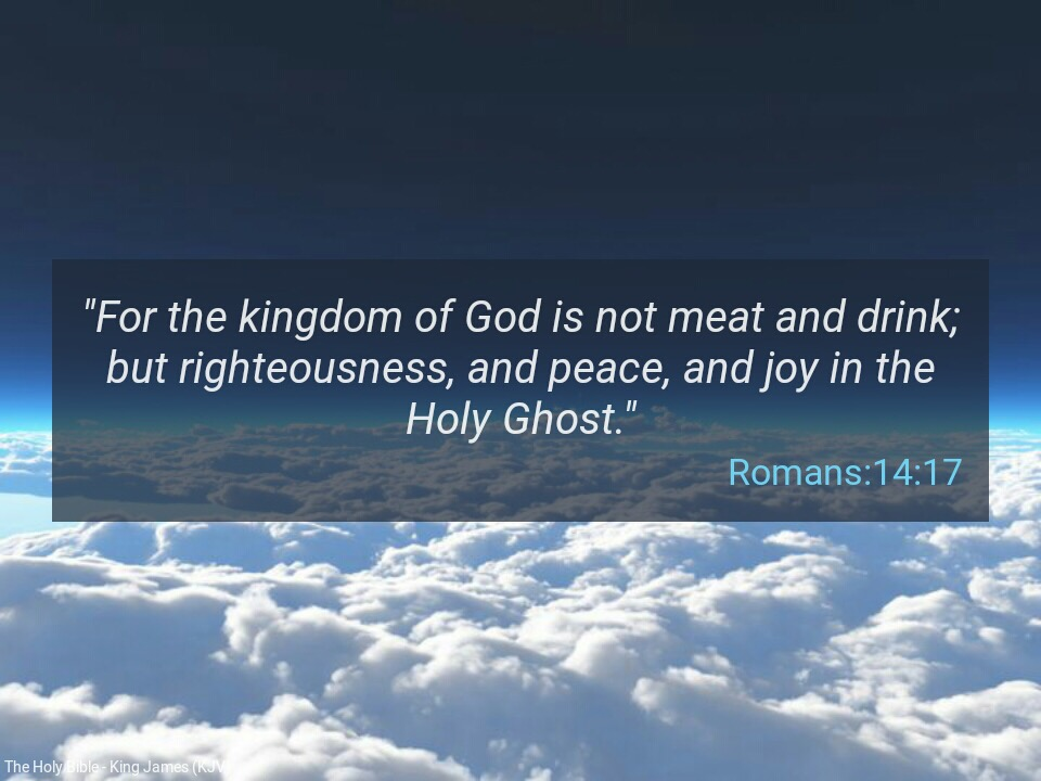 Word for Today:The word of God is not meat and drink